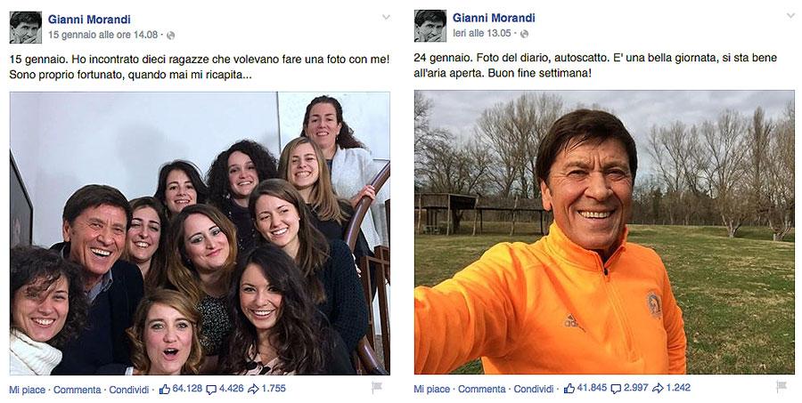 Pagina Facebook Fan morandi-selfie2