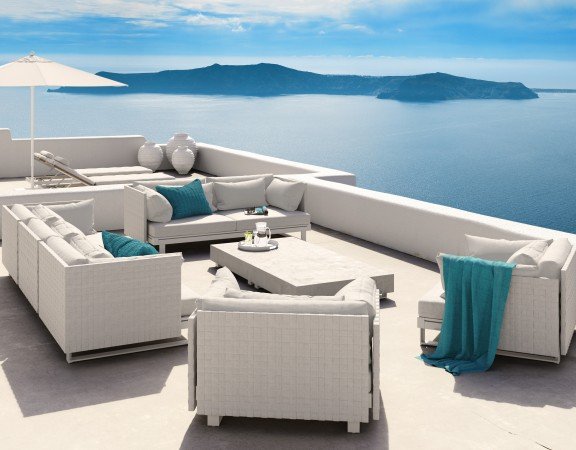 Viteo outdoor_PURE_Belt_linee morbide eleganti lussuose mobili da giardino