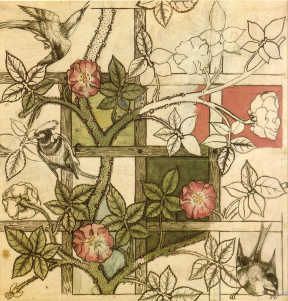 Carta da parati_William_Morris_design_for_Trellis_wallpaper