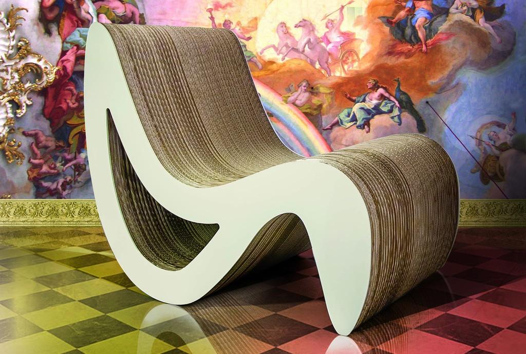 eco design sostenibilità cartone iglooo eco living Chaise-Loungue Venere fatti di cartone (1)