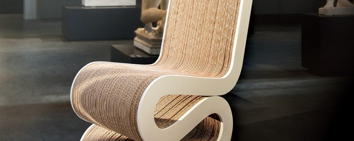 Cartone materia prima per interior design dall 39 impronta green for Arredi di cartone