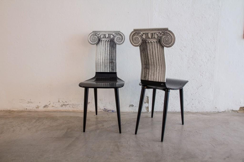 Influenze architettoniche design || Sedia Capitello #Fornasetti