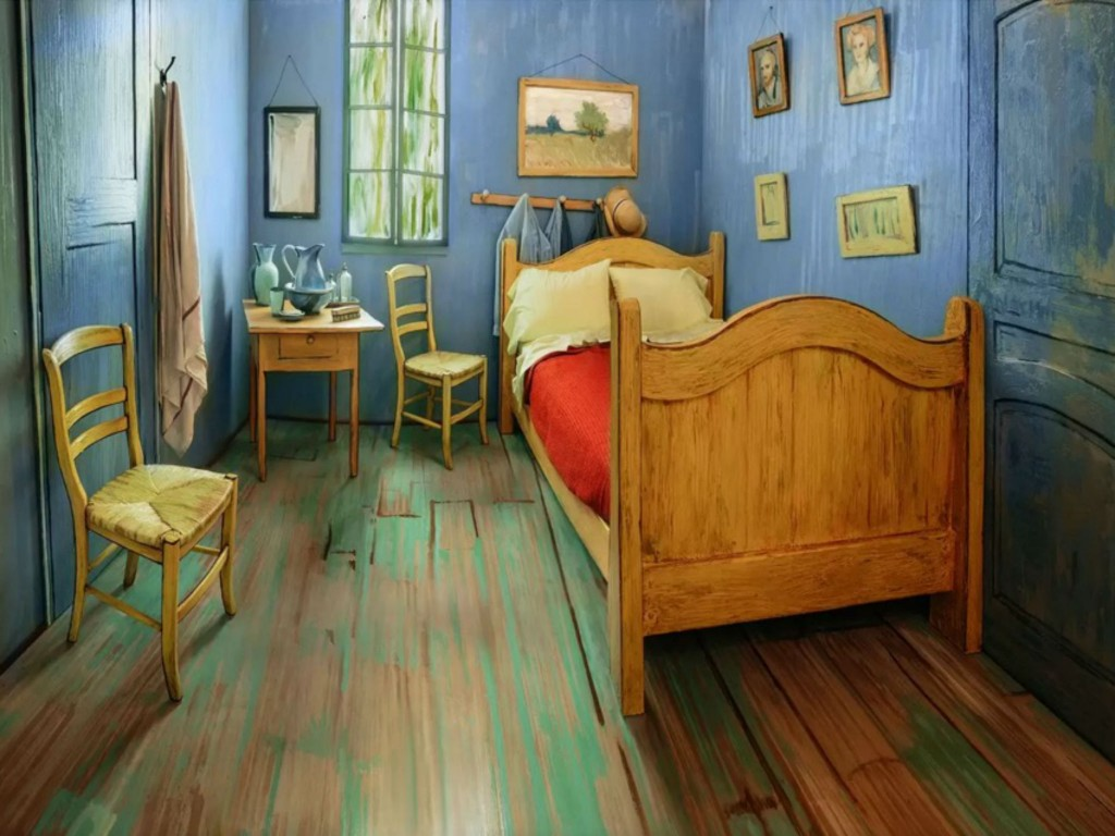 Van Gogh's Bedrooms marketing campaign. Rent yout dream on Airbnb