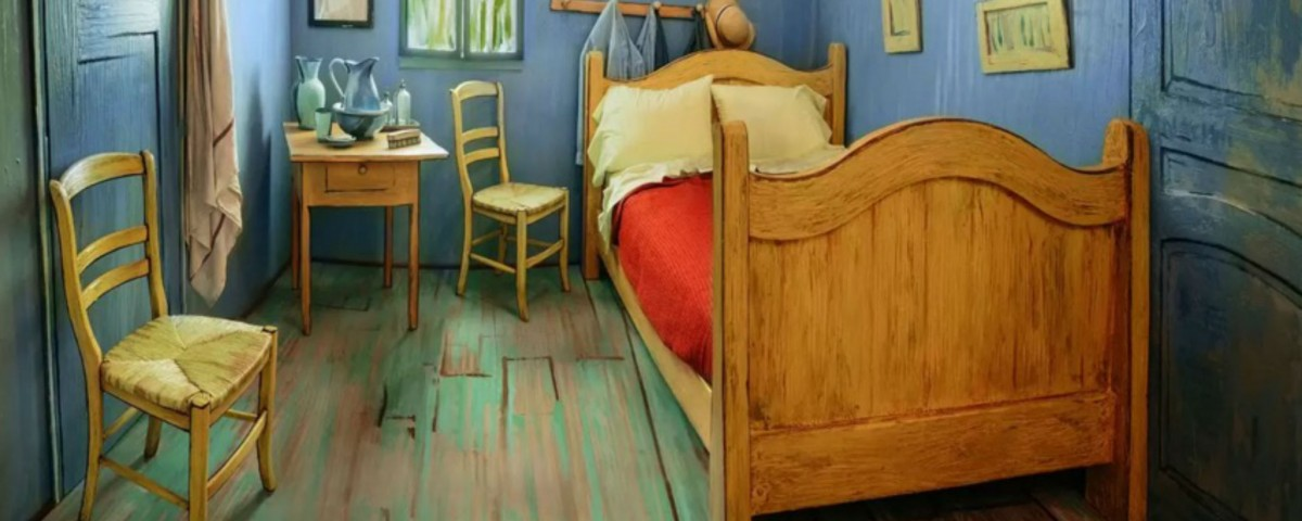 Vincent Van Gogh room reproduced by Airbnb